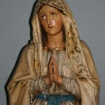 Our Lady of Lourdes statue in the Lady Chapel